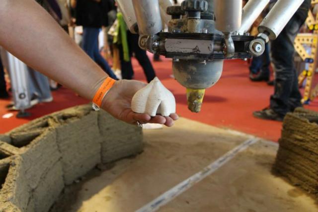 Дом из песка и глины на 3D - принтере (+Видео)