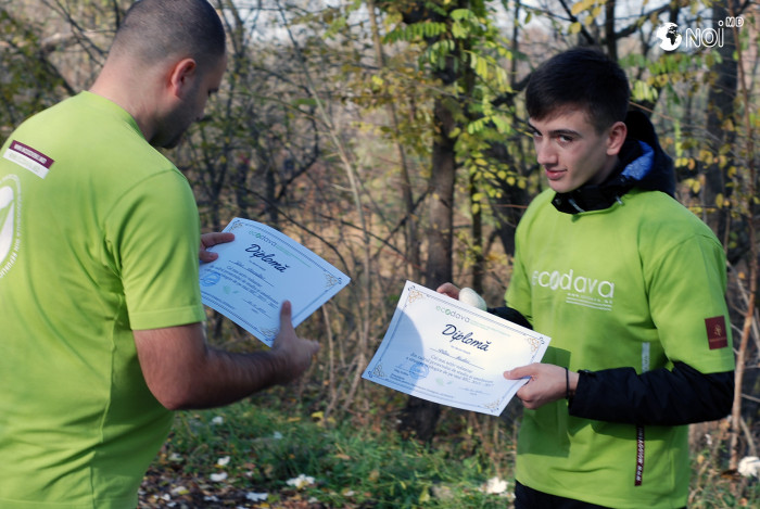 Наиболее активные волонтеры «EcoDava» отмечены дипломами (+Видео)