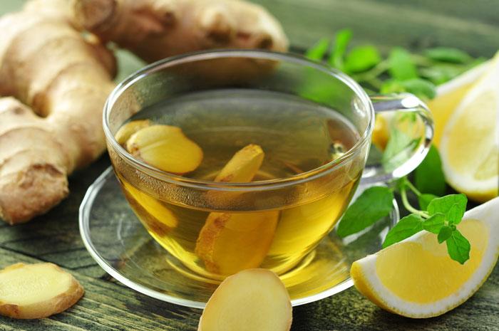 Имбирный чай хорошо восстанавливает иммунитет!