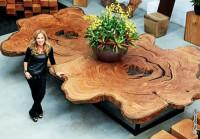 Превращаем старое дерево в красивый стол (Видео)