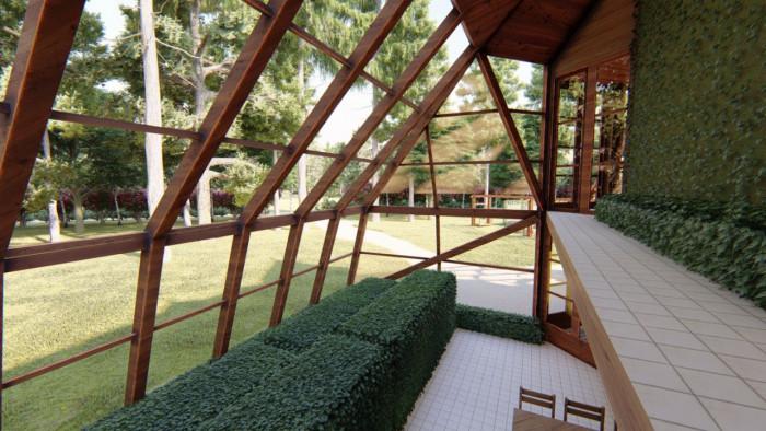 Купольный дом-вегетарий (Фото)