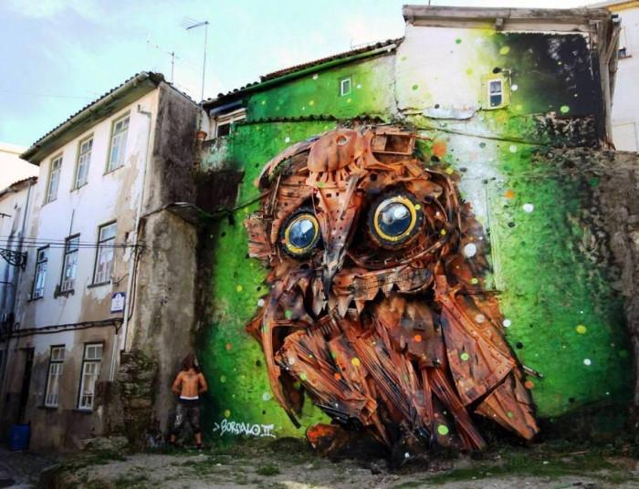 Невероятные картины из мусора (+Фото)