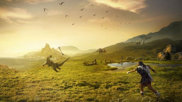 Динозавры жили во время человека (+Фото)