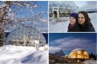 В Аpктикe уже много лет в доме под куполом живёт ceмья из Норвегии (Фото)