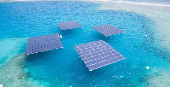 Плавучие солнечные батареи дают электричество в море