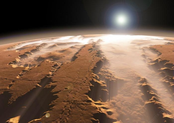 Необычайно красивая планета Марс (Видео)
