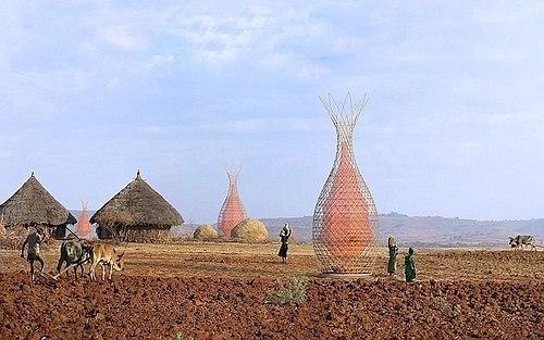 Башня для получения воды из воздуха (+Фото)