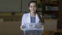 Школьница из Мариуполя придумала новый метод борьбы с отходами