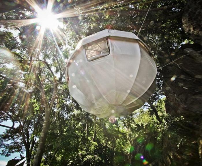 Дом-яйцо Cocoon Tree - жилище, которое помещается в сумке (+Фото)