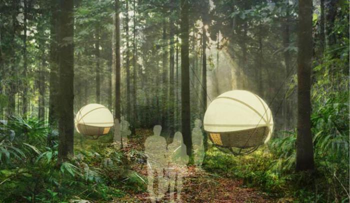 Группа дизайнеров из Британии представила интересный проект концептуального жилища для джунглей Лаоса. Дом получил название Spherical eco-lodges и объединяет в себе экологически чистые тенденции с комфортом и безопасностью.
