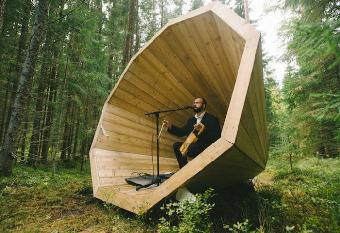 Огромные беседки-мегафоны - чтобы слышать лес (+Фото)