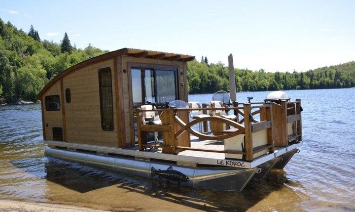 Крошечный плавучий дом на солнечных батареях (+Фото)