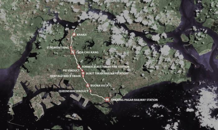 В Сингапуре построят самый длинный парк, который расположится вдоль железной дороги (+Фото)