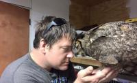 Человек спас сову и она выразила ему глубокую благодарность (+Фото)
