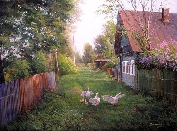 Лето в деревне - прекрасные картины художника (Фото)
