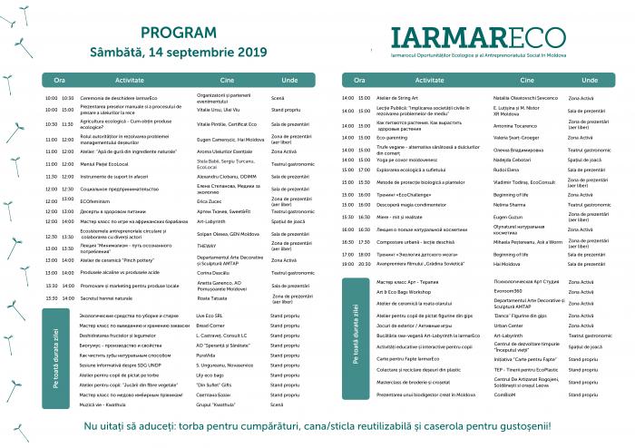 IarmarEco 2019, 14-15 сентября. Программа по дням