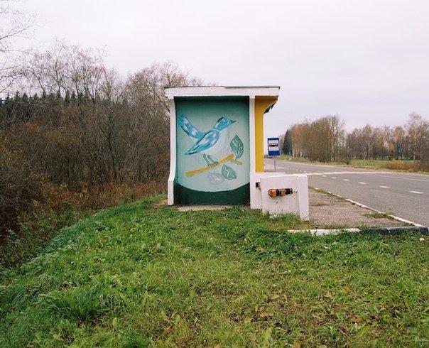 Колоритные автобусные остановки на просторах Беларуси (Фото)